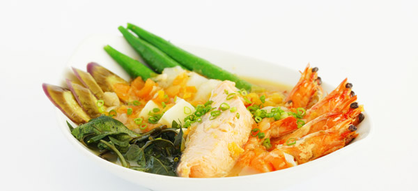 Salmon and Prawns Sinigang
