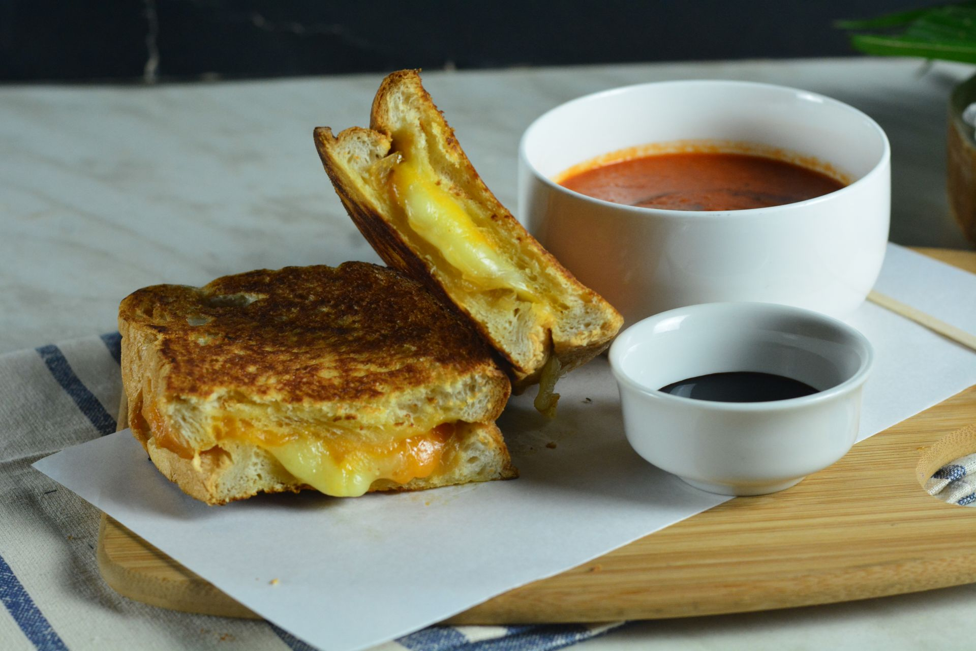 Grilled Cheese Sandwich & Tomato Soup