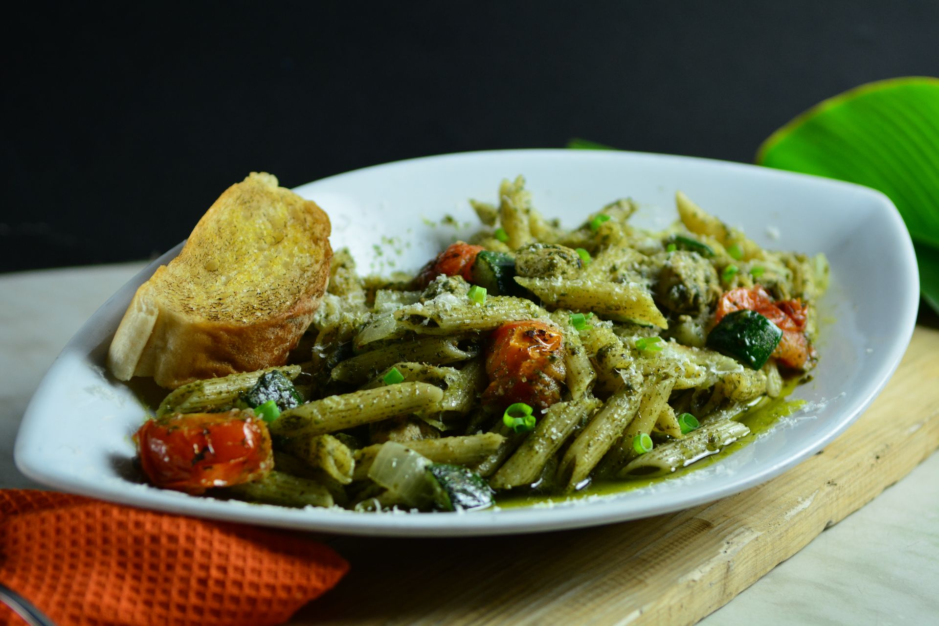 Roasted Vegetable & Chicken Pesto